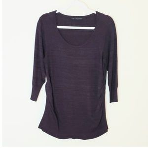 Maurices top 3/4 length sleeves Sz 2 plum color